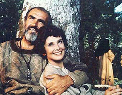 Audrey Hepburn Fashion Impact on Sean Connery As Robin And Audrey Hepburn As Marian In The 1976 Film