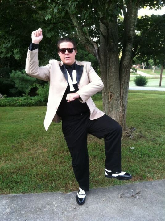 """Pulling off Psy-Ops """"Gangnam"""" style outfit is surprisingly easy to"""