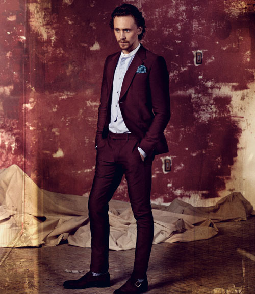 Tom Hiddleston Maroon Suit
