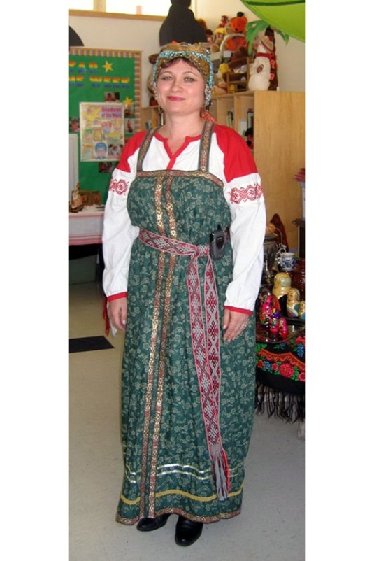 Russian Woman's Outfit from Etsy