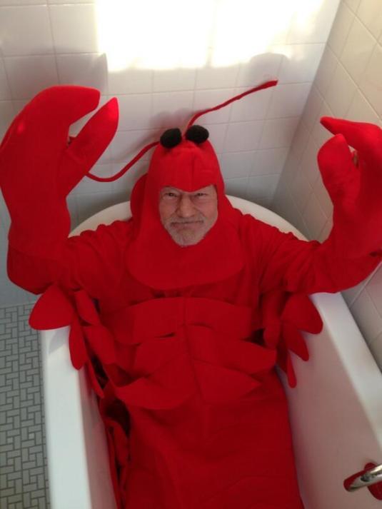 Patrick Stewart Lobster Halloween 2013