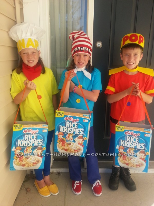 Snap Crackle Pop Trio Costume Coolest Homemade Costumes 2014