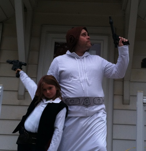 Tom Burns Princess Leia Father Daughter Costume 2014