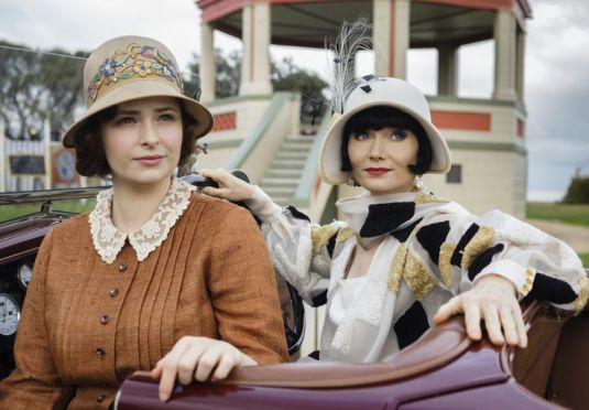 Dot and Phryne in her harlequin coat